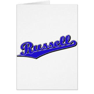 Russell en azul tarjeta de felicitación