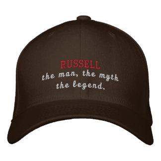 Russell la leyenda gorra de béisbol bordada