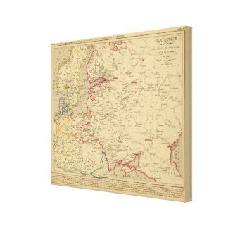 Russie, Pologne, ante, Norwege, en 1840 de Danemar Impresión En Tela