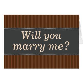 """Rústico-Coloreado """"usted me casará?"""" Tarjeta"""