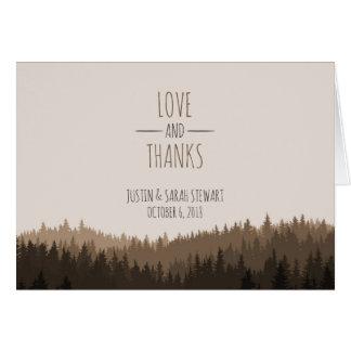 Rústico gracias cardar por un boda de la montaña tarjeta pequeña