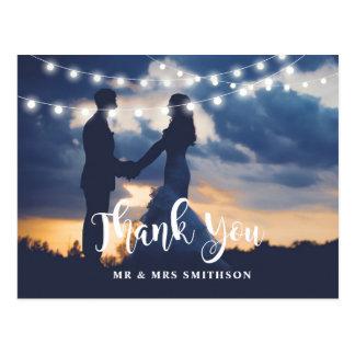 Rústico gracias fotografiar la invitación de boda postal