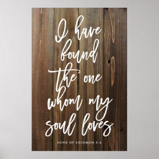 Rústico he encontrado el quién mi alma ama póster