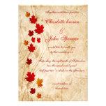 Rústico, invitaciones de la caída de las hojas de  invitación
