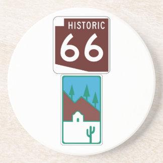 Ruta 66 - 66 históricos y camino escénico posavasos de arenisca