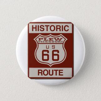 Ruta 66 de Plew Chapa Redonda De 5 Cm