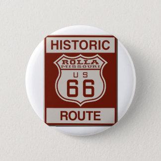 Ruta 66 de Rolla Chapa Redonda De 5 Cm