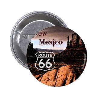 Ruta 66 New México Chapa Redonda De 5 Cm