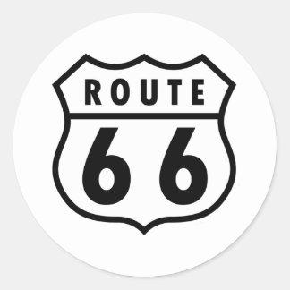 Ruta 66 etiqueta redonda