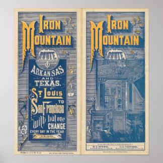 Ruta de la montaña del hierro póster
