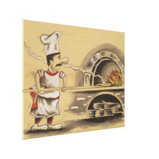 Ruta del faro del cocinero de la pizza impresión en lona estirada