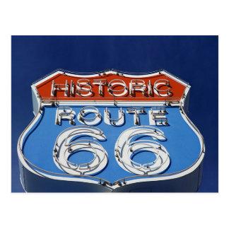 Ruta histórica 66 postal