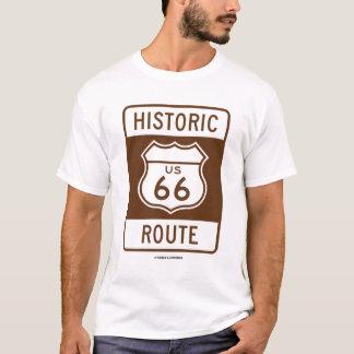 Ruta histórica de los E.E.U.U. 66 (muestra del Camiseta