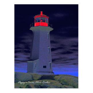 Ruta Nueva Escocia del faro de la ensenada de Postal