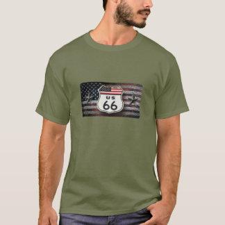 Ruta rústica 66 camiseta