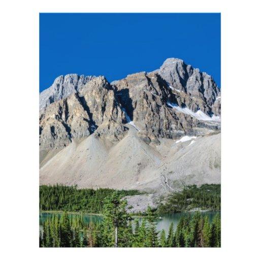 Ruta verde Alberta Canadá de Icefields del lago bo Tarjetón
