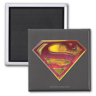 S-Escudo de la reflexión del superhombre Imanes Para Frigoríficos