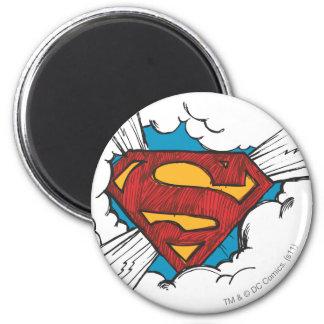 S-Escudo el | del superhombre dentro del logotipo Imán Redondo 5 Cm