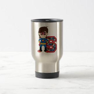 S está para el super héroe taza térmica