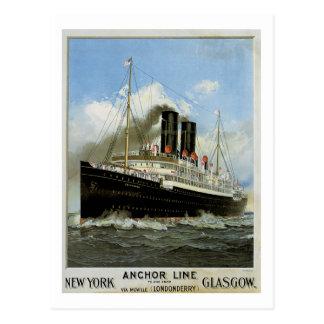 S.S. Caledonia - Nueva York a y desde Glasgow Postal