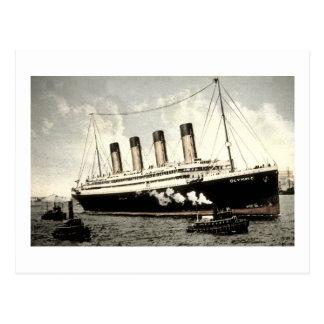 S.S. Estrella olímpica, estrella blanca Line, 1913 Postal