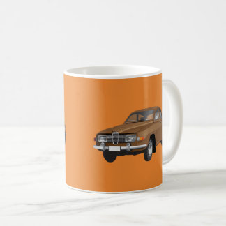 Saab 96, marrón, taza de café