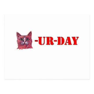 Sábado es Caturday Postal