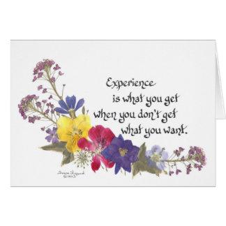 Sabiduría chistosa tarjeta de felicitación