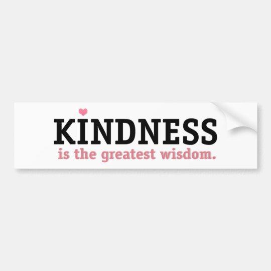 Sabiduría de la amabilidad pegatina para coche
