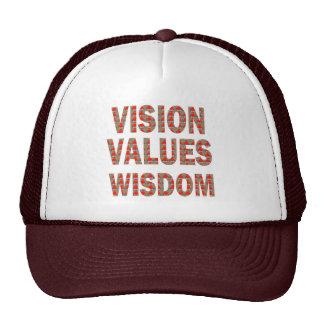Sabiduría de los valores de VISION: REGALOS BARATO Gorras