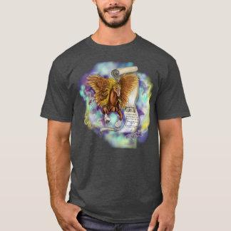 Sabiduría de un Pegaso, camiseta oscura