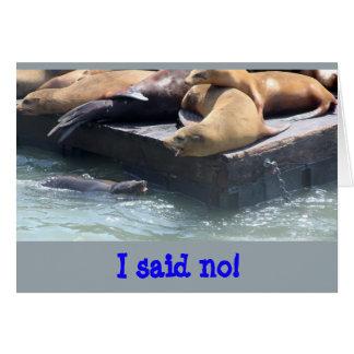 Sabiduría del león marino ninguna tarjeta de felicitación