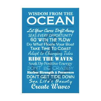 Sabiduría del océano lienzo