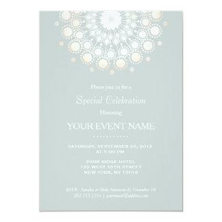 Sabio elegante de la luz del adorno del círculo invitación 12,7 x 17,8 cm