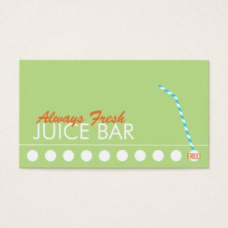 Sacador de la lealtad del cliente del bar de zumos tarjeta de negocios