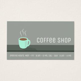 Sacador elegante de la lealtad de la cafetería tarjeta de visita