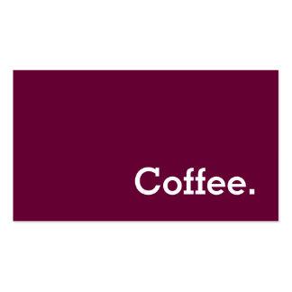 Sacador simple del café de la lealtad del tarjeta de negocios
