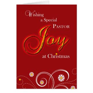 Sacerdote, alegría en el navidad tarjeta de felicitación
