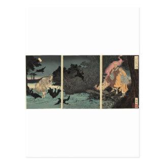 Sacerdote budista y el pescador C. 1885 Postal