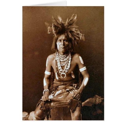 Sacerdote CA 1900 de la serpiente del Hopi Tarjetón