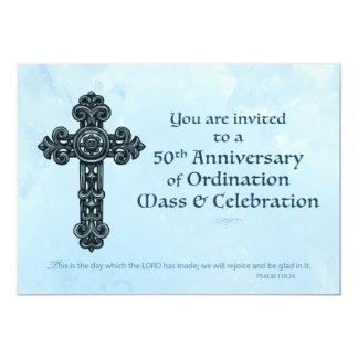 Sacerdote del aniversario de la ordenación de la invitación 12,7 x 17,8 cm
