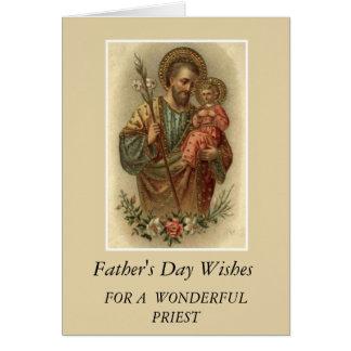 Sacerdote del día de padre de Jesús de San José y Tarjeta De Felicitación