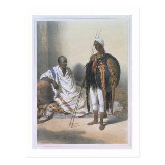 Sacerdote y guerrero abisinios, ejemplo de ' postal