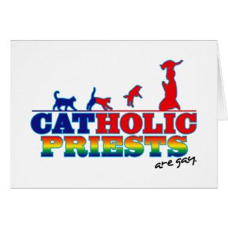 Sacerdotes católicos tarjeta pequeña