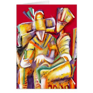 Sacerdotes de las antigüedades tarjeta de felicitación