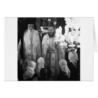 Sacerdotes griegos tarjeta de felicitación