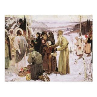 Sacerdotes rusos y adoración Jesús de los Postal