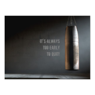 Saco de arena de cuero - de motivación invitación 16,5 x 22,2 cm