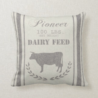 Saco del grano de alimentación de la lechería cojín decorativo