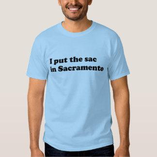 Saco en Sacramento Camisetas